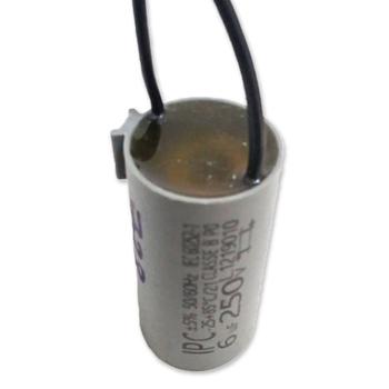 Capacitor para Ventiladores - Potência 06,0uF saida c/2-Fios 250VAC