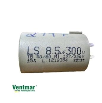 Capacitor para Ventilador Loren Sid 08,5uF 300VAC c/Terminal 3 ou 4 pinos - Ventiladores Oscilantes CAP008,5
