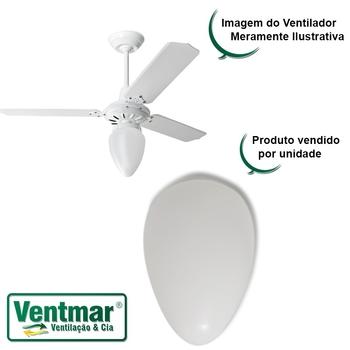 Globo Cúpula Plástica Tipo Pêra para Ventilador de Teto - Globo Plástico Pera - Tamanho Padrão - Encaixe 101mm