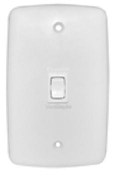 Chave para Ventilador de Teto e Exaustor - Modelo Liga/Desliga com Reversão - Espelho 4x2