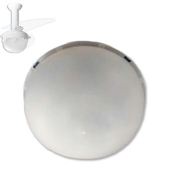 Globo Cúpula Plástica para Luminária do Ventilador de Teto Loren Sid Platun Primor Pérola Requinte - Globo Platun - Encaixe Externo 231mm