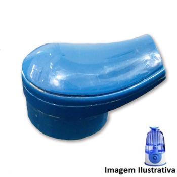 Bico do Umidificador VENTISOL U-03 - Bico de Saída de Ar Plástico Azul - Saída Dupla Encaixe 4,7mm