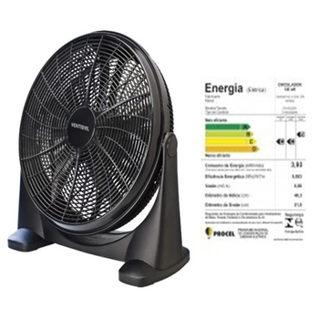 Ventilador de Mesa 50cm Ventisol 127v 130w Preto - Circulador de Ar Portátil 50cm MOD-CA 01 127V Premium Preto 130w