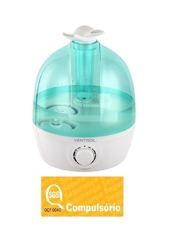 Umidificador de Ambientes 3,7 Litros Ultrassônico Bivolts - Ventisol Premium U-04 Nacional - Verde