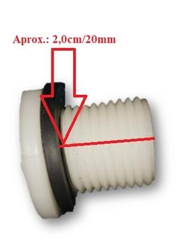 Tampão Dreno com Porca para Climatizador Ventisol CLI70 CLIPRO45 CLIPRO70 CLIPRO100 - Diâmetro da Rosca 21mm / Comp.da Rosca 20mm