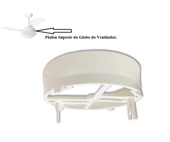 Plafon Base Suporte da Luminária do Ventilador Loren Sid - para Globo Pérola Platun Primor Requinte - Apenas o Suporte do Globo *SEM Soquetes