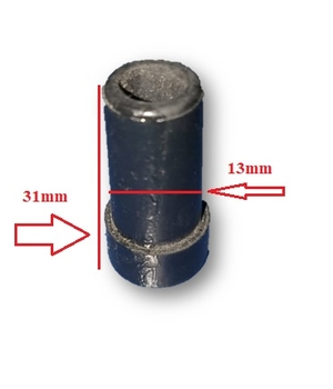 Tampão Dreno de Borracha do Ar Condicionado Portátil Agratto Ventisol - Diâmetro de Encaixe 13mm - Comprimento Total 31mm
