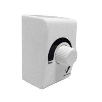 Chave Controladora de Velocidade Ventilador Ventura 50/60cm - Potência até 0200W - Compacta Caixa Fundo Branca 7x8cm