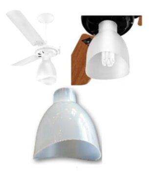 Globo da Luminária Ventilador de Teto Venti-Delta - Cúpula Globo Plastico Light - Delta New Light - Apenas o Globo SEM Soquete*