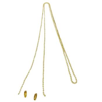 Correntinha para Ligar Ventilador de Teto - 1 peça = 1 Metro/100cm - Dourada c/2 Ponteiras Engates Rápido