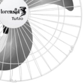 Ventilador de Parede 50cm Loren Sid Tufão M1 Bivolts 250w Branco - Grade Metal - Chave Controle de Velocidade Rotativa