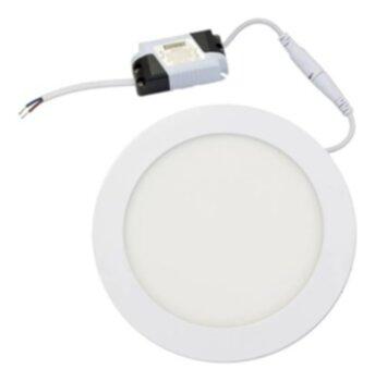 Plafon Redondo de Embutir 160CX160LX28Amm Branco - Luz Branca LED12W6500k Bivolts Alta Potência