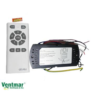 Controle Remoto completo para Ventilador de Teto Aliseu ECO Bivolts 110-240Vac - Eco 5Velocidades