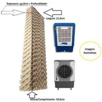 Colmeia para Climatizador MWM M4500 41Litros Ventisol CLIPRO45/70/100Litros - Painel Lateral - Espessura 5,0CM x L21 x A59cm - Vendida p/Unidade
