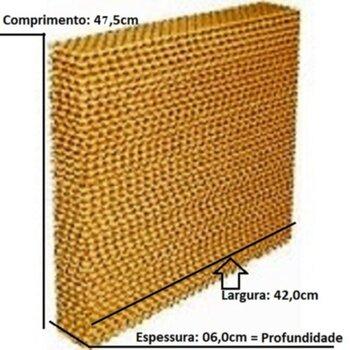 Colmeia para Climatizador MWM M4500 41Litros - Painel Evaporativo Traseiro - Espessura 6,0cm x L42 x C47,5cm - Colmeia Ventisol - Vendida p/Unidade