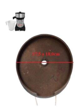 Base Superior do Corpo do Motor Extrator VITALEX GRANDE SUPER INOX IPL - para Usar c/Rolamento 6201 - Base Superior Espremedor Vitalex