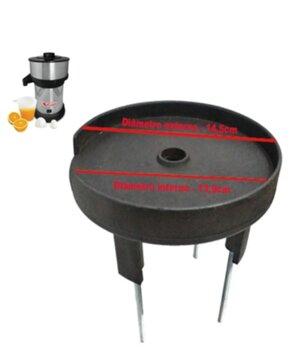 Base Superior do Corpo do Motor Extrator VITALEX Pequeno VitaInox - para Usar c/Rolamento 6201 - Base Superior Espremedor Vitalex Pequeno
